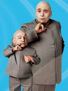 Dr Evil and Mini Me